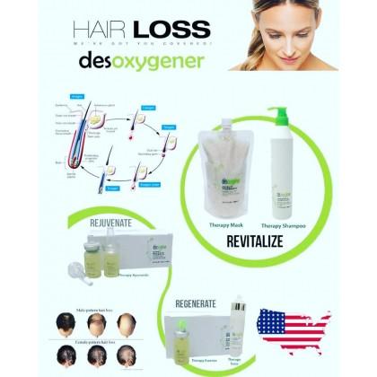 Desoxygener Ayurvedic Therapy Tonic 120ml Hair loss oily scalp itchy kelemumur Rambut gugur activ