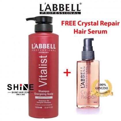 rambut gugur oily balancing tudung itchy kelimumur Labbell Vitalist Shampoo Energizing Scalp Prevent Hair Loss 1000ml