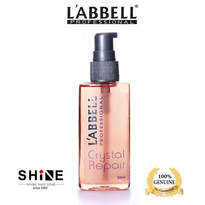 LABBELL Crystal Repair Hair Serum 60ml minyak rambut non oily silky smooth leave on blow dry travel bottle