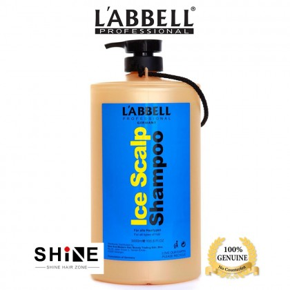 Labbell ICE Scalp Cooling Mint Shampoo 3000ml Salon Barbershop Hotel Airbnb