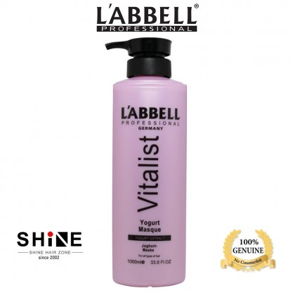 Labbell Moisture Shampoo Yogurt Hair Mask 1000ml normal set dry hair rambut kering cabang