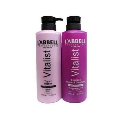 Labbell Perm Colored Hair Shampoo  Yogurt Mask Professional Hair Dryer SET