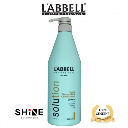 Labbell Solution Reborn Straight Hair Shampoo 1000ml Conditioner 1000ml suit rebonding hair