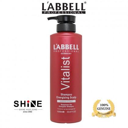 Labbell Vitalist Shampoo Energizing Scalp Prevent Hair Loss 1000ml rambut gugur oily balancing tudung itchy kelimumur