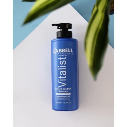 Labbell Vitalist Shampoo Relived Dandruff 1000m oily itchy hair rambut kelimumur berminyak tudung cool shampoo
