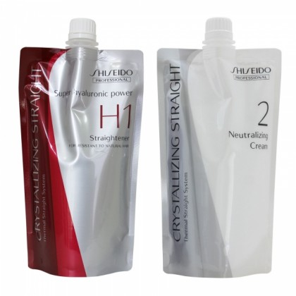 Shiseido Crystallizing Straightener H1 Neutralizer Cream Rebond Straight hair
