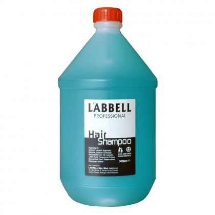 LABBEL Gallon Shampoo Blue 3000ml Mint Cool Hotel Salon Airbnb