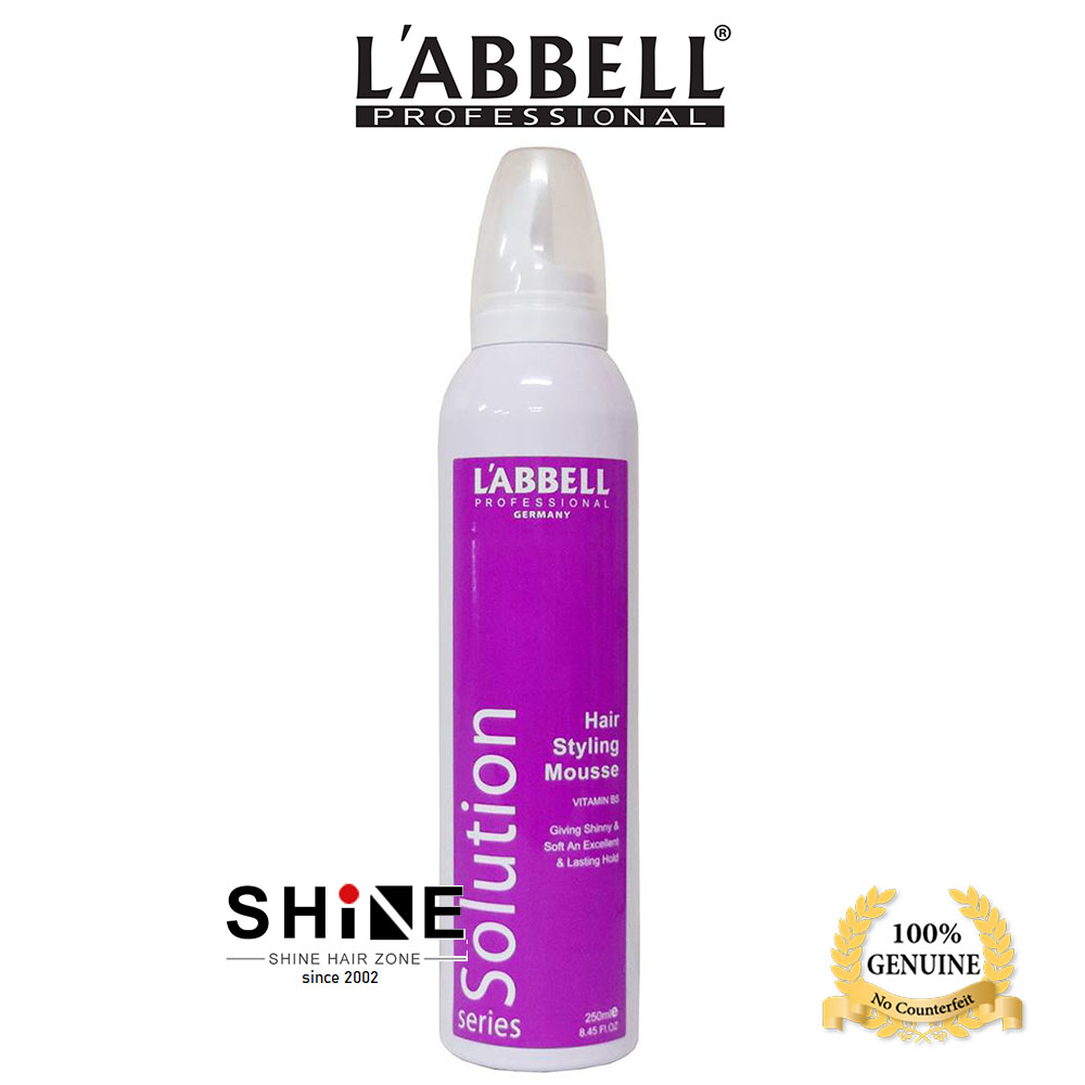 Labbell Solution Hair Styling Extra Hold Mousse 250ml Blow Dry Bouncy Curl Styling