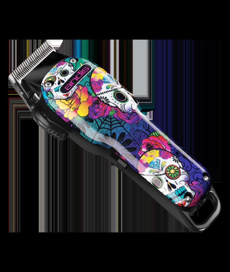andis USA USPRO Li Adjustable Blade Cordless Clipper Taper Barber Barbershop Sugar Skull Design 73090