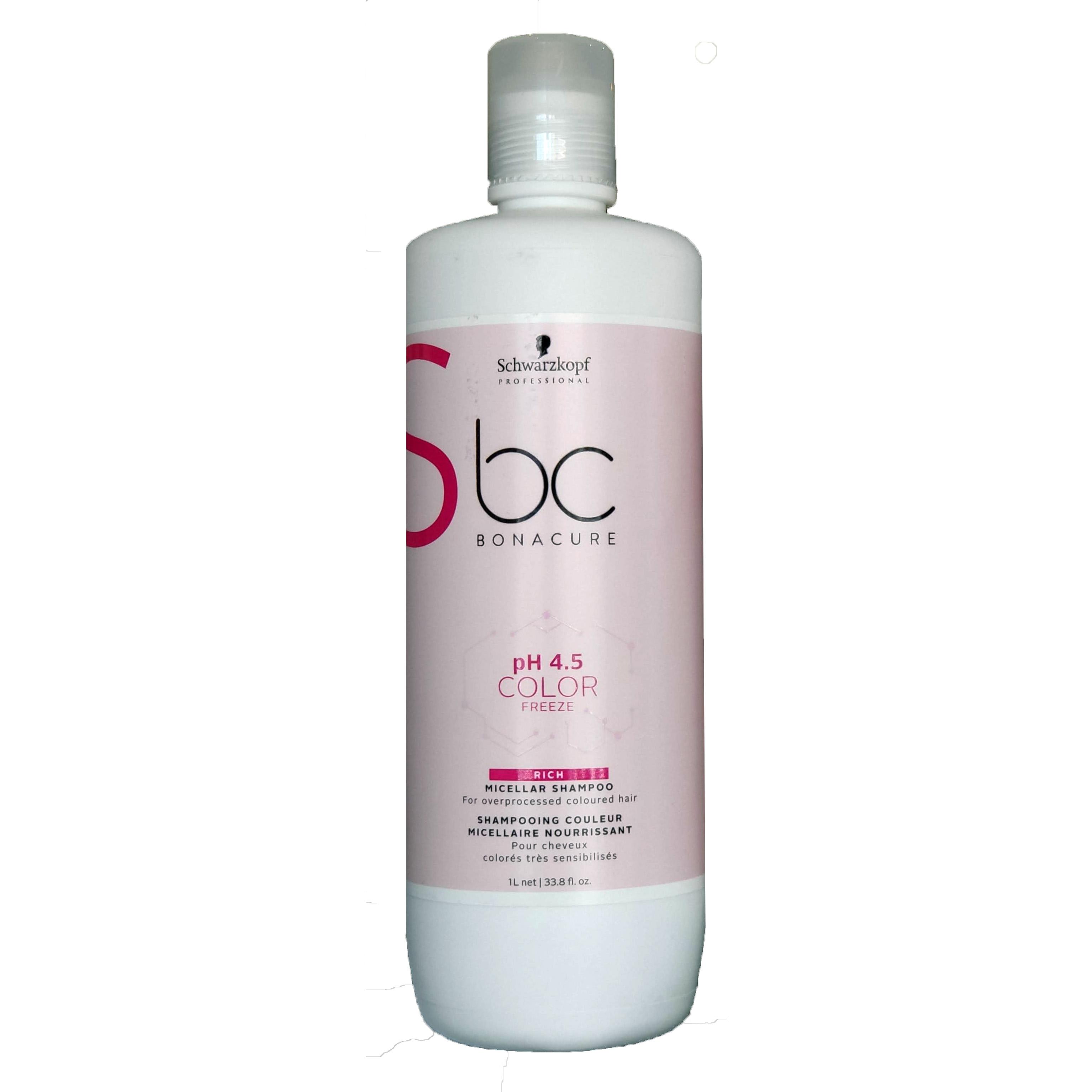 Schwarzkopf Bonacure pH 4.5 Color Freeze Micellar Rich1000ml Jaga Color Rambut Colored Hair Keep Refresh