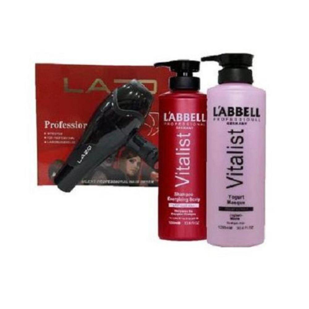 Labbell Energizing Scalp Shampoo Yogurt Mask Professional Hair Dryer SET