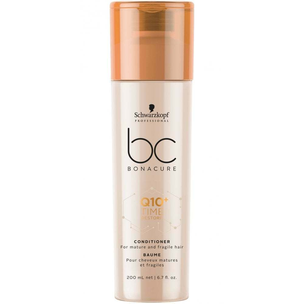 Schwarzkopf Bonacure BC Q10+ Time Restore Conditioner 200ml mature fragile hair bleach rambut