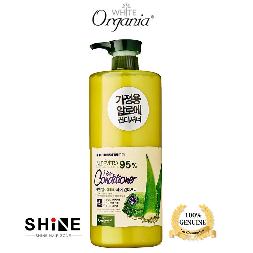 White Organia Aloe Vera 95% Hair Conditioner 1500ml KOREA
